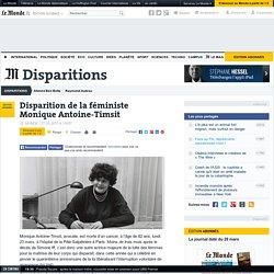 Disparition de la féministe Monique Antoine-Timsit
