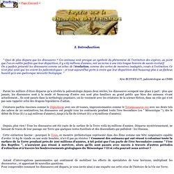Dossier DinoNews: Enquête sur la disparition des dinosaures (Introduction)