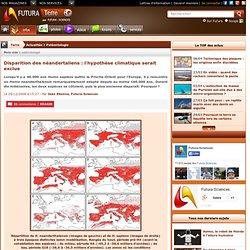 Disparition des néandertaliens : l'hypothèse climatique serait exclue