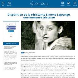 Disparition de la résistante Simone Lagrange, une immense tristesse
