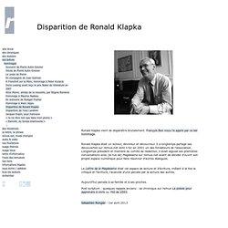 Disparition de Ronald Klapka