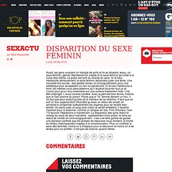 Disparition du sexe féminin