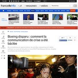 Boeing disparu : comment la communication de crise a été bâclée