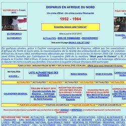 Disparus en Algerie