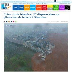 trois blessés et 27 disparus dans un glissement de terrain à Shenzhen_French.news.cn