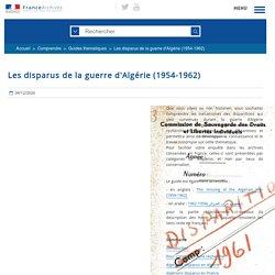 Les disparus de la guerre d'Algérie (1954-1962)