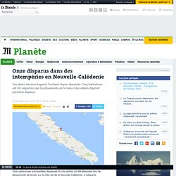 Onze disparus dans des intempéries en Nouvelle-Calédonie
