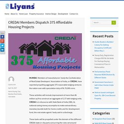 CREDAI Members Dispatch 375 Affordable Housing Projects