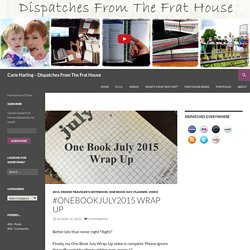 Dispatches From The Frat House - Blog - Carie Harling