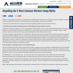 Dispelling the 5 Most Common Workers Comp Myths