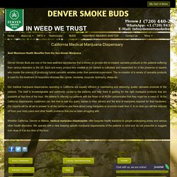 Medical Marijuana Dispensaries California - Denver Smoke Buds