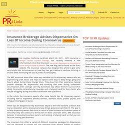 Insurance Brokerage Advises Dispensaries On Loss Of Income During Coronavirus