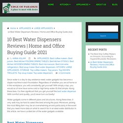 10 Best Water Dispensers Reviews