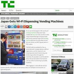 Japan Gets Wi-Fi Dispensing Vending Machines