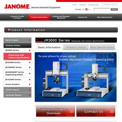 JR3000 Series Dispensing with Camera Specifications