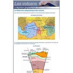 La dispersion géographique des volcans