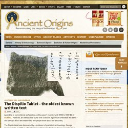 The Dispilio Tablet - the oldest known written text
