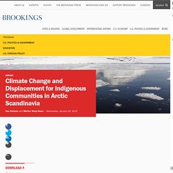 Climate Change and Displacement for Indigenous Communities in Arctic Scandinavia