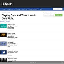 Display Date and Time: How to Do It Right - Hongkiat