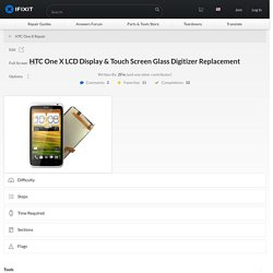 HTC One X LCD Display & Touch Screen Glass Digitizer Replacement