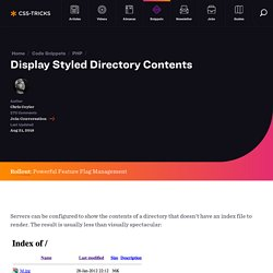 Display Styled Directory Contents
