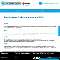 Assessment-based Display Screen Equipment Services