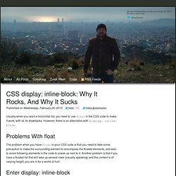 CSS display: inline-block: why it rocks, and why it sucks