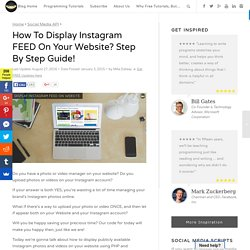 Display Instagram Feed On Your Website - Step By Step
