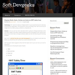 Display Bold, Italic, Strike out fonts in SWT table/tree - Soft Devgeeks