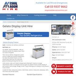 Best Gelato Display Unit Hire Melbourne