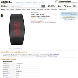 Starck PH1116 Gents Watch LED Red Display Black Rubber Strap: Philippe Starck: Amazon.co.uk: Watches