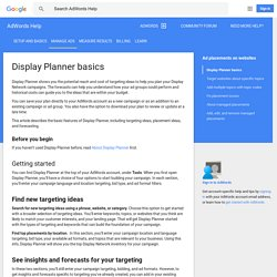 Display Planner basics - AdWords Help