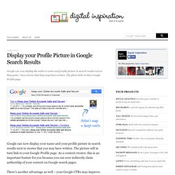 How to Display your Profile in Google Search with Authorship Markup