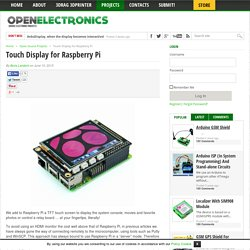 Touch Display for Raspberry Pi