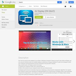 Air Display (ON SALE!) - Android Apps on Google Play