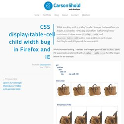 CSS display:table-cell child width bug in Firefox and IE