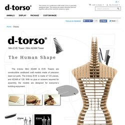 Display - d-torso Paper craft by Aki Co.,Ltd.