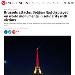 Brussels attacks: subsequent illumination of Masonic monuments