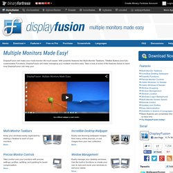 DisplayFusion: - Multiple Monitors