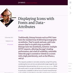 Displaying Icons with Fonts and Data- Attributes