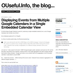 Displaying Events from Multiple Google Calendars in a Single Embedded Calendar View