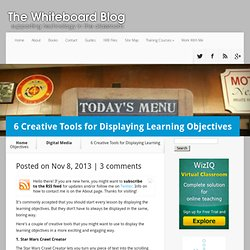 6 Creative Tools for Displaying Learning Objectives