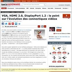 VGA, HDMI 2.0, DisplayPort 1.2 : le point sur l'évolution des connectiques vidéos - Ne pas perdre le fil