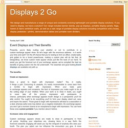 Displays 2 Go: Event Displays and Their Benefits