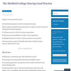 READING - Displays – The Sheffield College