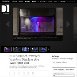 Nike's Kinect-Powered Window Displays Are Watching You