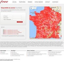 Couverture réseau de Free Mobile