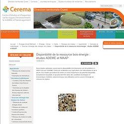 Disponibilité de la ressource bois-énergie: études ADEME et MAAP