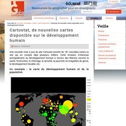 Cartostat, de nouvelles cartes disponible sur le développement humain