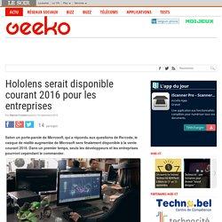 Hololens serait disponible courant 2016 pour les entreprises